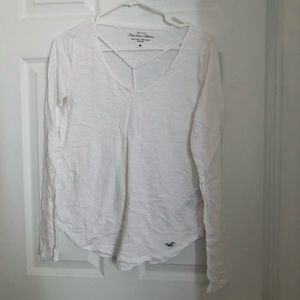 HOLLISTER white long sleeve top
